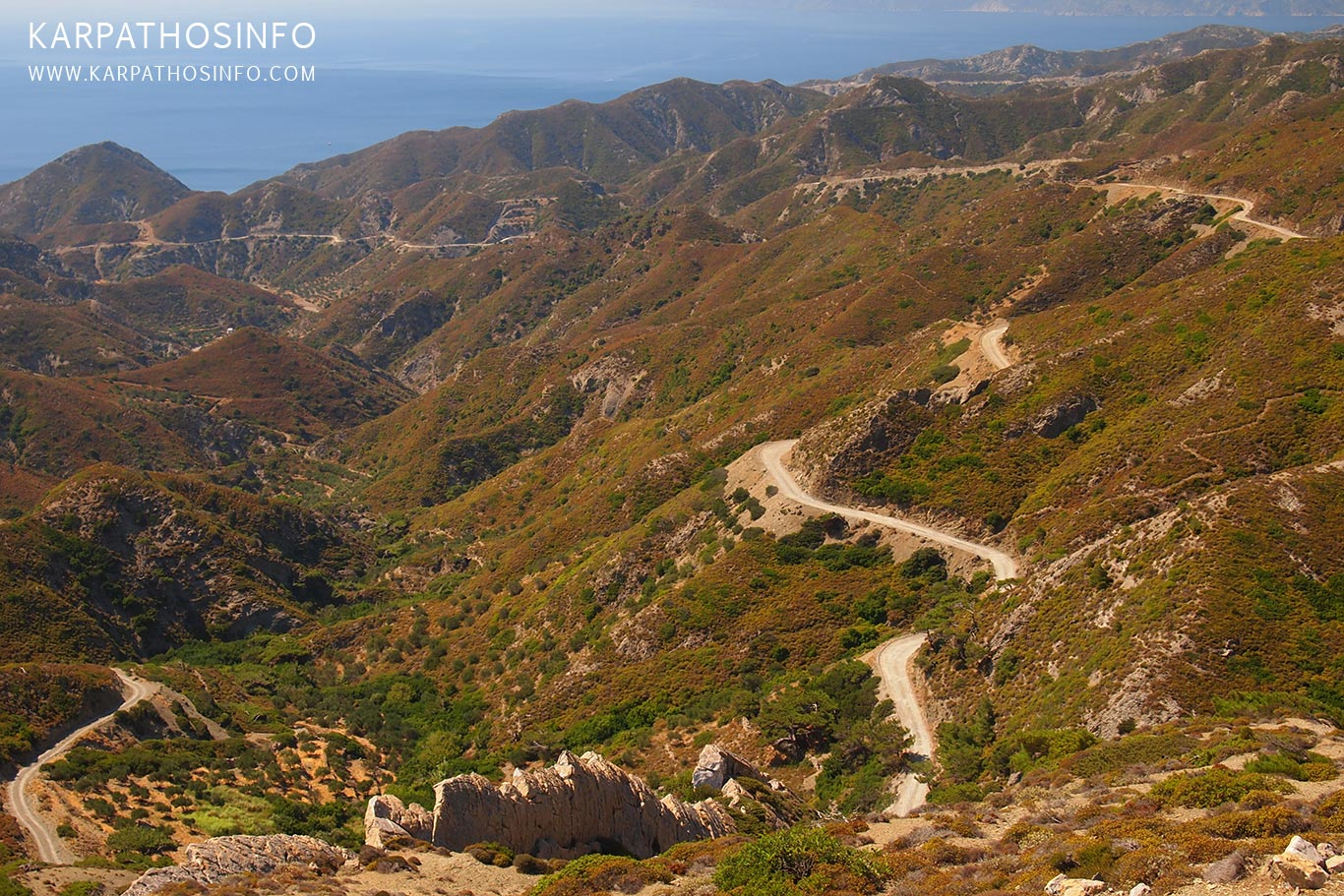 Off-road driving in Karpathos island