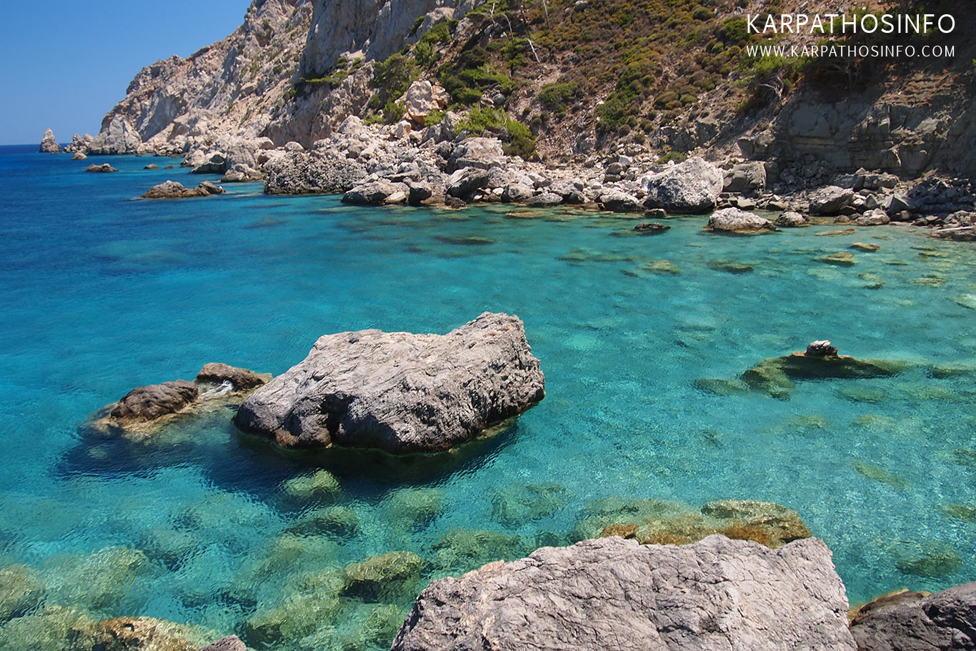 Agios Nikolaos beach Spoa, Karpathos, great for diving