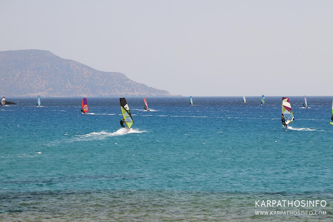 Windsurfing in Karpathos island, Greece