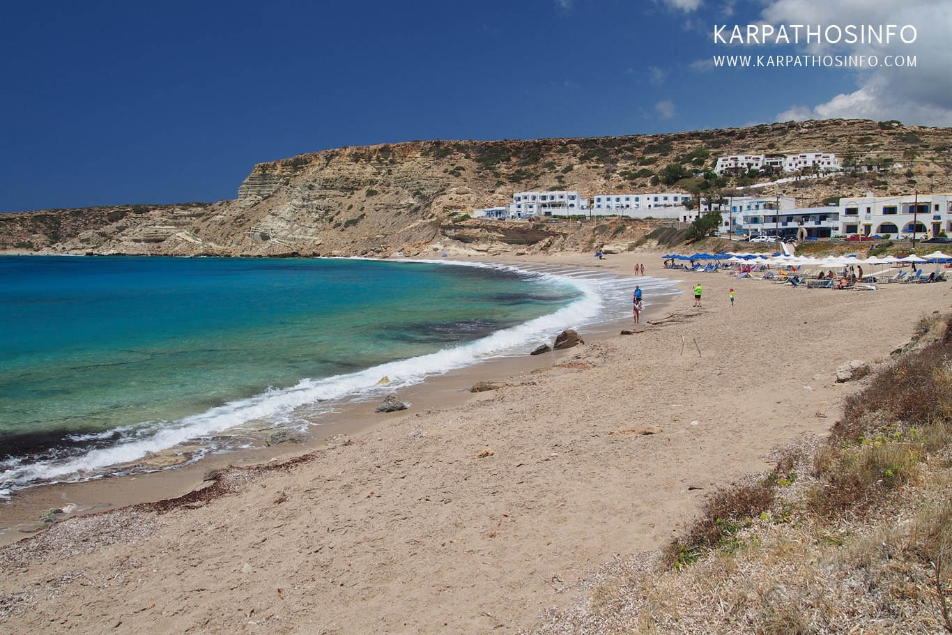 Lefkos beach north Karpathos