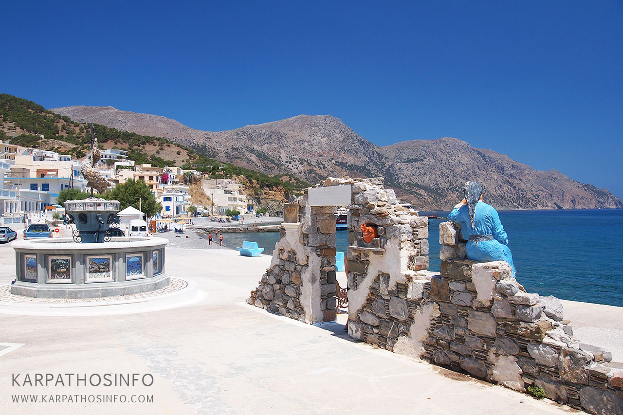 Diafani village, Karpathos island, Greece