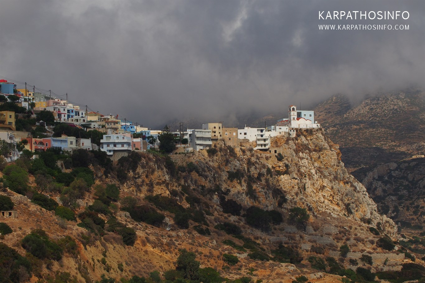 Karpathos island in winter (November, December, January)