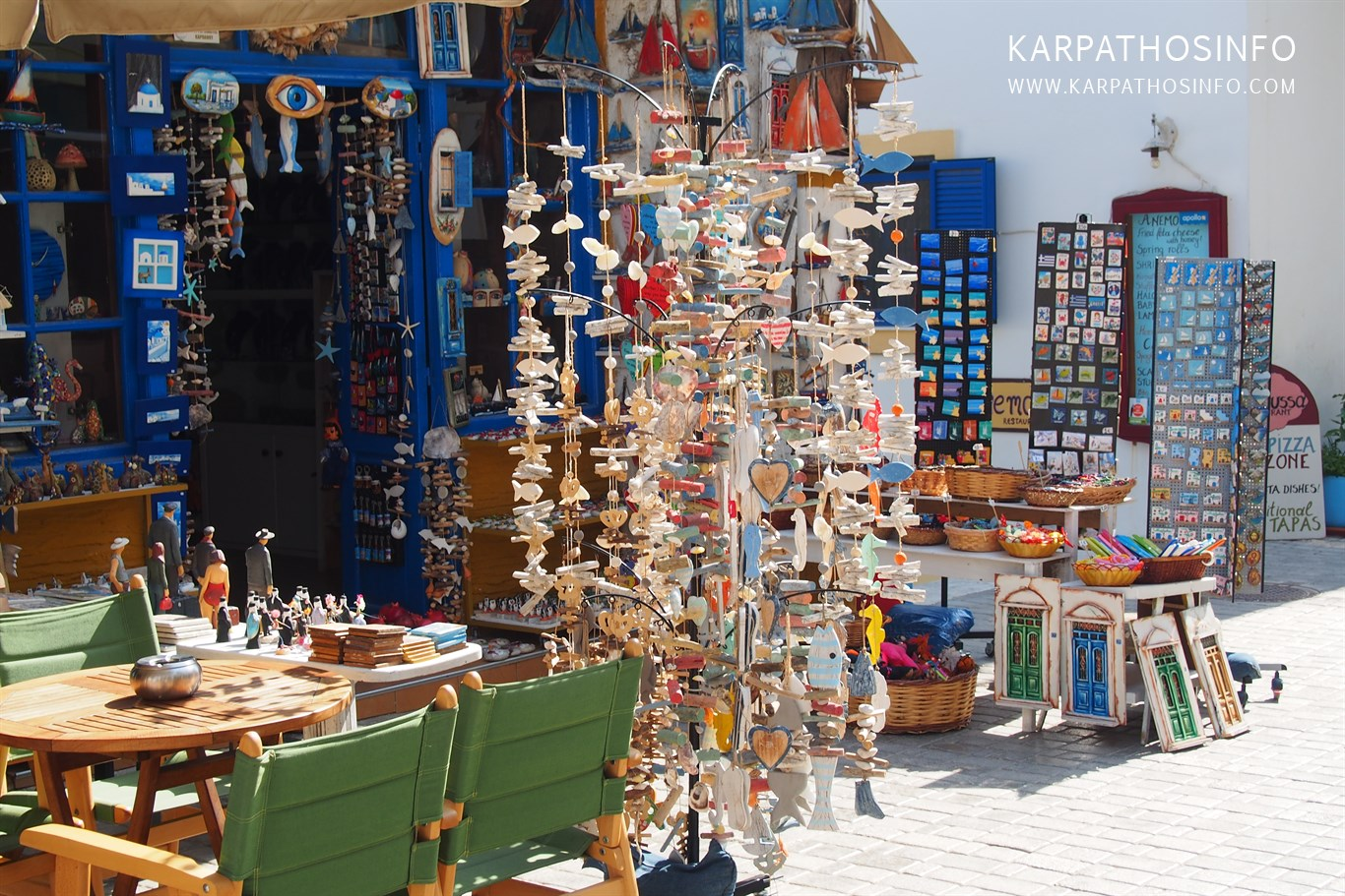 Souvenir shop in Karpathos