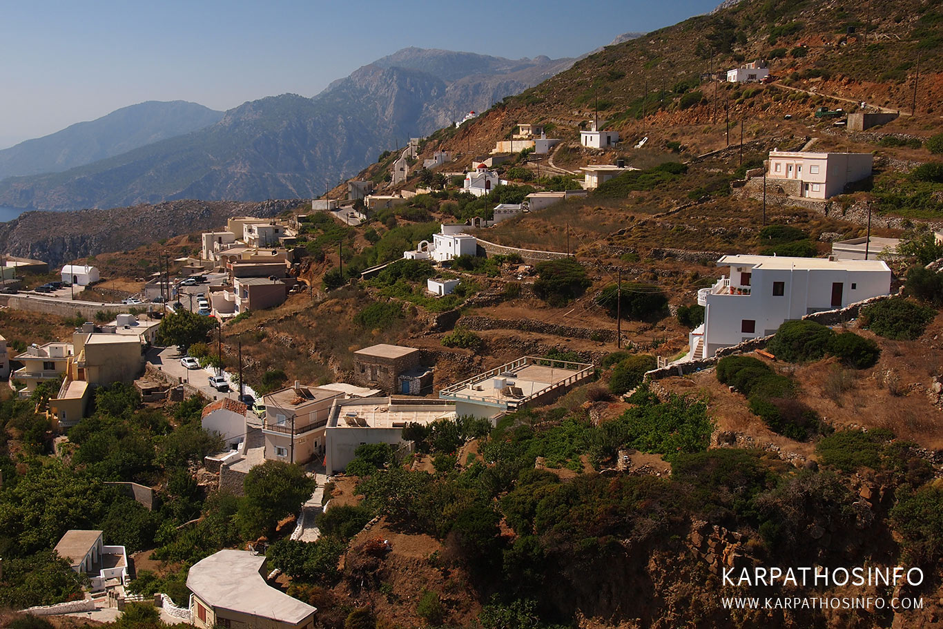 Spoa village in Karpathos