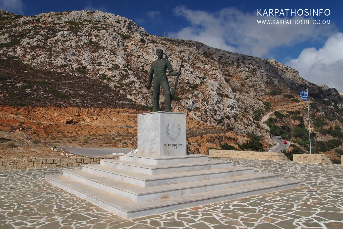 Karpathos War Memorial in Menetes
