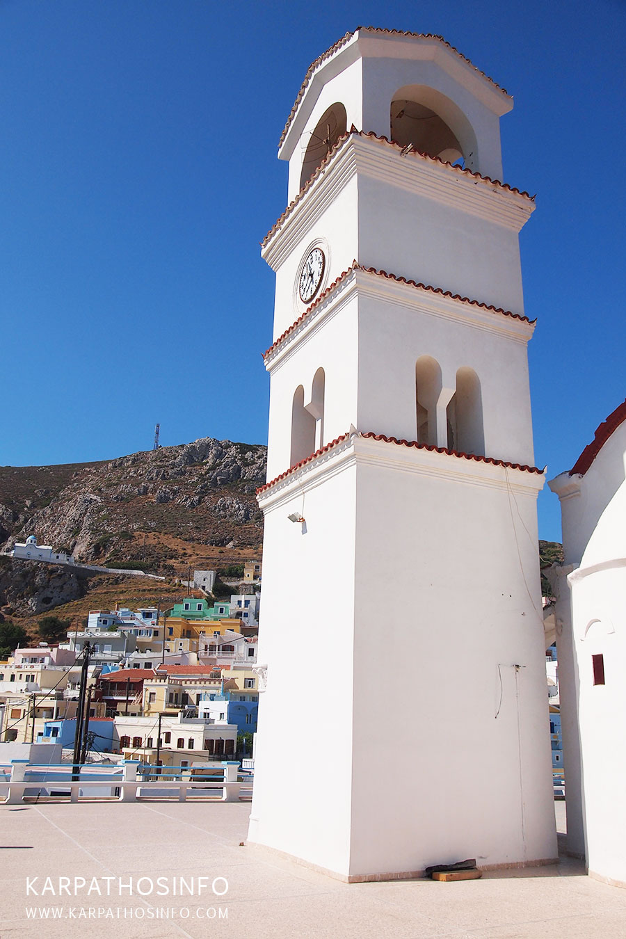 Kimissi tis Theotokou Menetes, the bell tower of the church